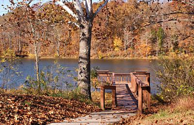 Celina Lake Path Poster by Sandy Keeton