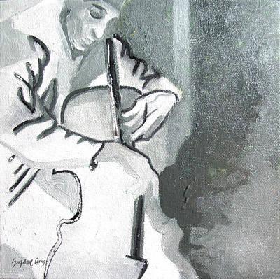 Cellist Poster by Suzanne Giuriati-Cerny