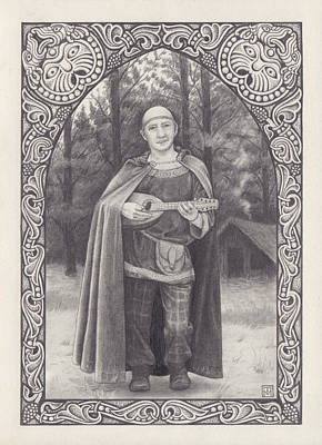 Celtic Bard Poster by Tania Crossingham