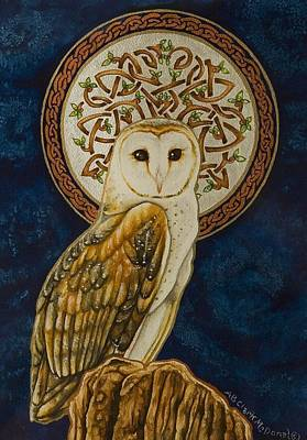 Celtic Barn Owl Poster by Beth Clark-McDonal