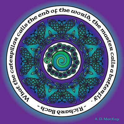 Celtic Butterfly Mandala Poster