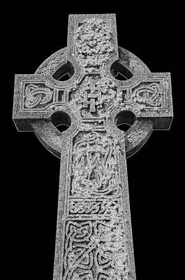 Celtic Cross Poster by Chevy Fleet