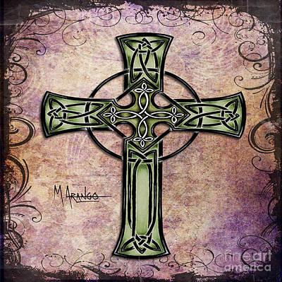 Celtic Cross Poster by Maria Arango