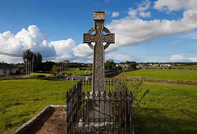 Celtic Cross Overlooking The Green Poster by Panoramic Images