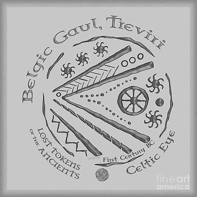 Celtic Eye Coin Poster by Kristen Fox