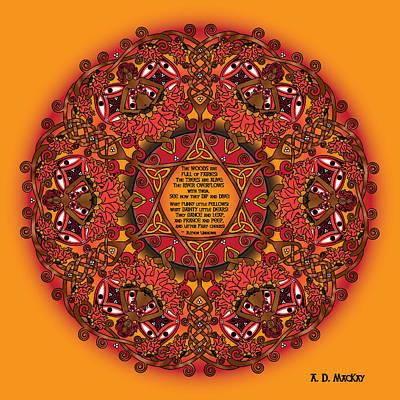 Celtic Fall Fairy Mandala Poster