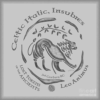 Celtic Lion Coin Poster by Kristen Fox