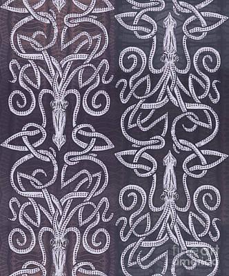 Celtic Plum Kraken Poster by CR Leyland