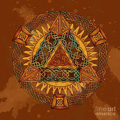 Celtic Pyramid Mandala Poster