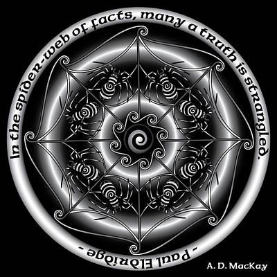 Celtic Spider Mandala Poster
