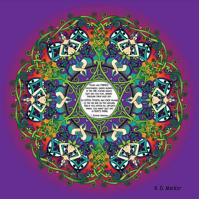 Celtic Spring Fairy Mandala Poster