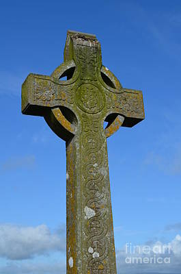Celtic Stone Cross In Ireland Poster