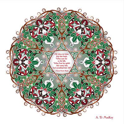 Celtic Winter Fairy Mandala Poster