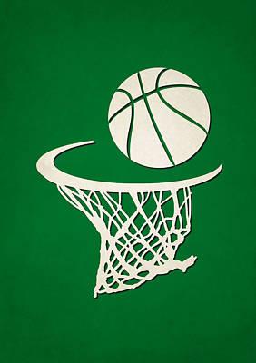 Celtics Team Hoop2 Poster by Joe Hamilton