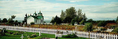 Cemetery And A Church, Russian Orthodox Poster by Panoramic Images