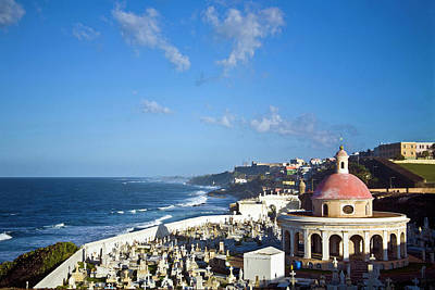 Cemetery And La Perla From El Morro Poster by Miva Stock
