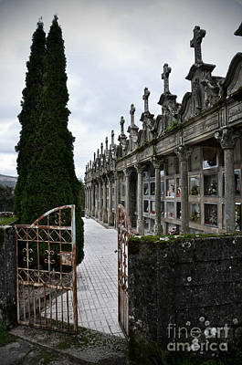 Cemetery In A Small Village In Galicia Poster by  RicardMN Photography