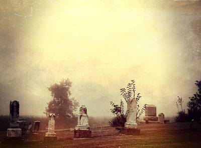 Cemetery In The Fog Poster by Dan Sproul