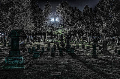 Poster featuring the photograph Cemetery  by Ray Congrove