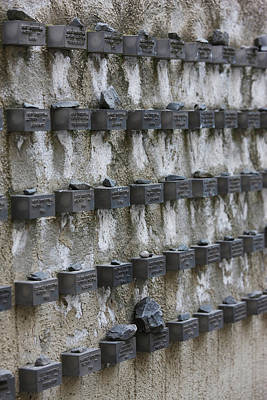 Cemetery Wall With Names Of Holocaust Poster by Panoramic Images