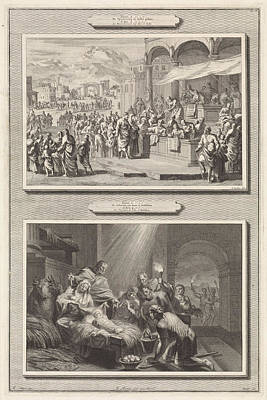 Census At Bethlehem And The Adoration Of The Shepherds Poster