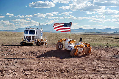 Centaur Robonaut Rover Testing Poster by Nasa-johnson Space Center
