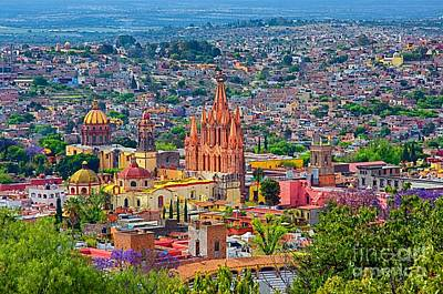 Center Of San Miguel De Allende Poster