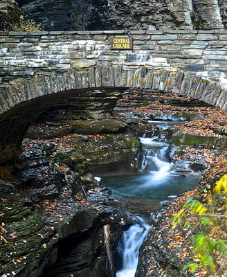 Central Cascade Poster by Frozen in Time Fine Art Photography