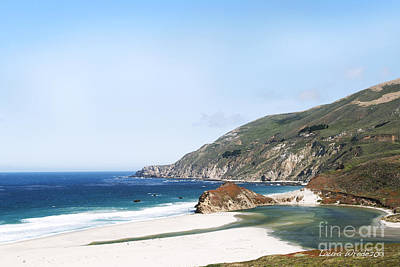 Central Coast Beach Near Cambria And San Simeon Poster by Artist and Photographer Laura Wrede