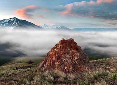 Central Idaho Mountain Morning Poster