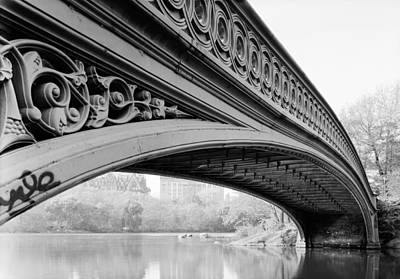 Central Park Bow Bridge Poster by Bill Cannon