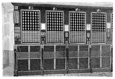 Central Telephone Exchange Poster by Science Photo Library