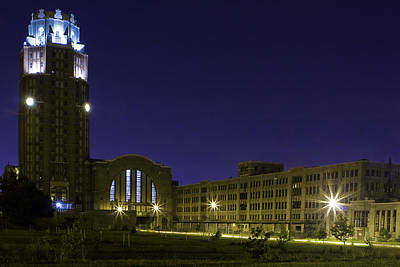 Poster featuring the photograph Central Terminal At Night  by Don Nieman