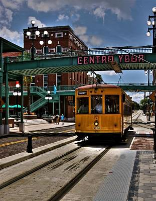 Centro Ybor Stop Poster by Kandy Hurley