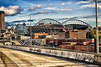 Century Link Field Seattle Washington Poster by Michael Rogers
