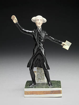 Ceramic Dr. Syntax Standing, With A Book In One Hand Poster