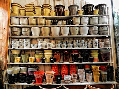 Ceramic Pots For Sale Poster