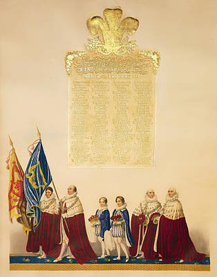Ceremonial Of The Coronation Of King George Iv Poster by Mountain Dreams