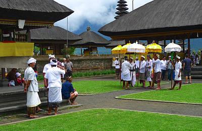Ceremony Gathering At Beratan Bali Poster