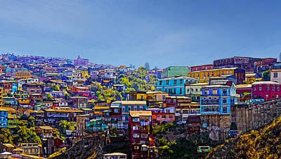 Cerro Artilleria Valparaiso Chile Poster
