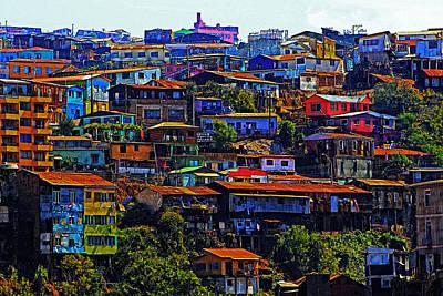 Cerro Valparaiso Poster by Kurt Van Wagner