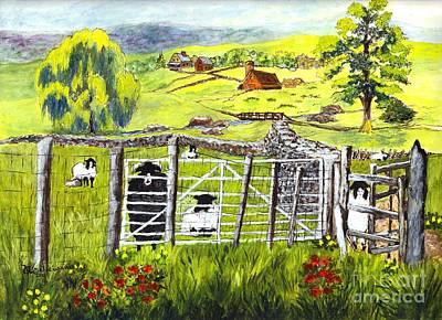 Cervinia Sheep Farm Poster by Carol Wisniewski
