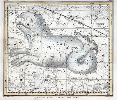 Cetus Constellation, 1822 Poster by U.S. Naval Observatory Library