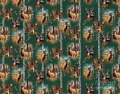 Cf Whitetail Deer Pillow Art Poster