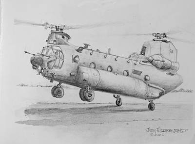 Ch 47 Chinook Helicopter Poster