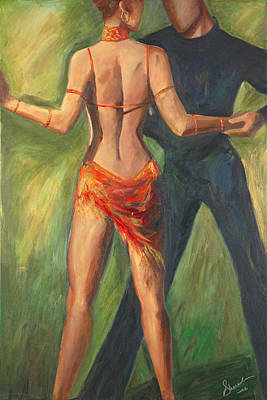 Poster featuring the painting Cha Cha Cha by Sheri  Chakamian