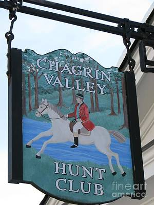 Chagrin Valley Hunt  Club 2 Poster by Michael Krek