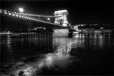 Chain Bridge Danube River Poster