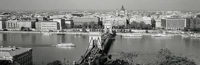 Chain Bridge Over The Danube River Poster