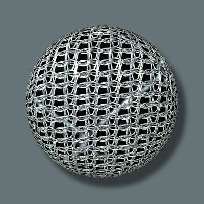 Chain Mail Armor Orb Poster by Tony Rubino